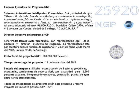 Descripción del Programa Desarrollado por NGP